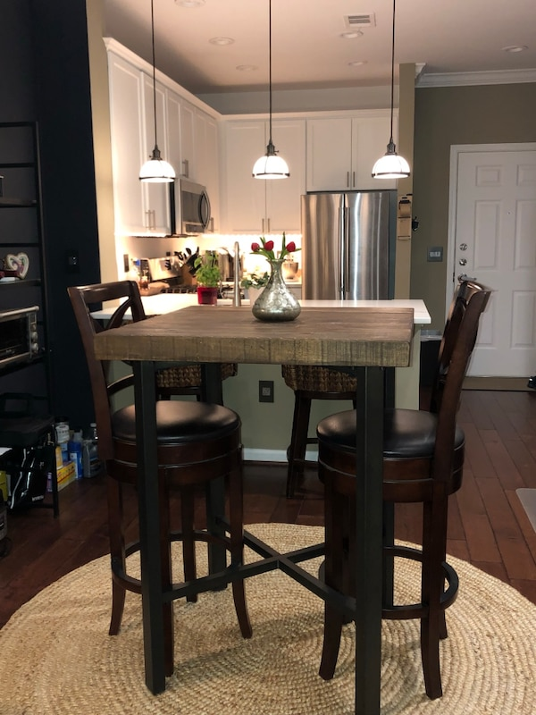 Pottery Barn Reclaimed Wood high top dining table set