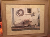brown wooden framed painting of house Wilmington, 28401