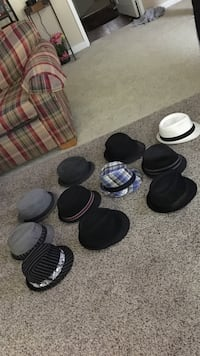 Assorted colored fedora hats $4 each