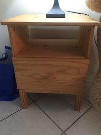 brown wooden single-drawer end table HOUSTON