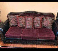 red and brown floral fabric 3-seat sofa Scranton, 18508
