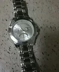 round silver-colored chronograph watch with link bracelet Fort Worth, 76112