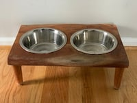 "Dog Raised Bowls & Feeding Station (19"" W x 6.5"" H) Germantown, 20876"