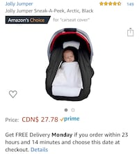 Baby jolly jumper car seat cover Toronto, M2P 1T3