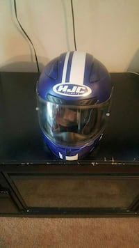 blue and white HJC full-face helmet Des Moines, 50320