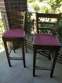Wooden Bar Stool Chairs with fabric seat 4 avail Toronto, M9N