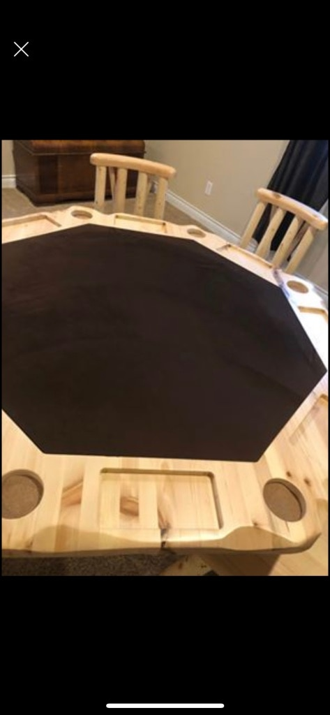 Photo Poker table. Moving priced to sell