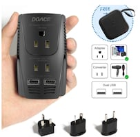 2000W Travel Voltage Converter Power Adapter with Portable Case, Setp