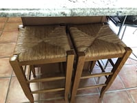 two brown wooden frame padded chairs Burlington, L7L 6V4