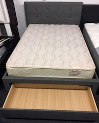 Brand New Full Size Storage Bed + Mattress