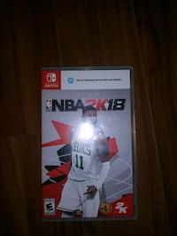 Empty game case box with cover of NBA2K18