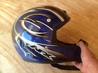 black, gray and blue AFX full face helmet Conklin, 13748