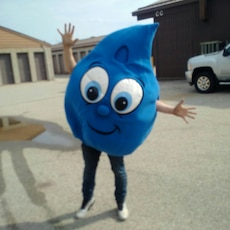 water droplet mascots, new