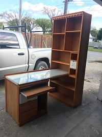 Solid wood desk with shelf Winnipeg, R3N 1G2