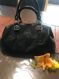 black leather Coach tote bag Sterling, 20165