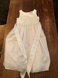 Girls size 10 white dress