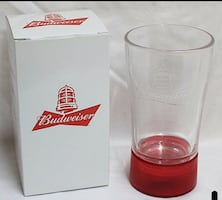 Brand new in box Bud Budweiser NHL goal red light glass