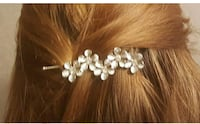 New Flower Rhinestone Women Hair Accessories Plum