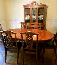 DIning Room Table ,6 chairs and matching china cab Forest Hill, 21050