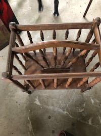 Antique Magazine rack.Many items listed & alot not listed.$15.00.