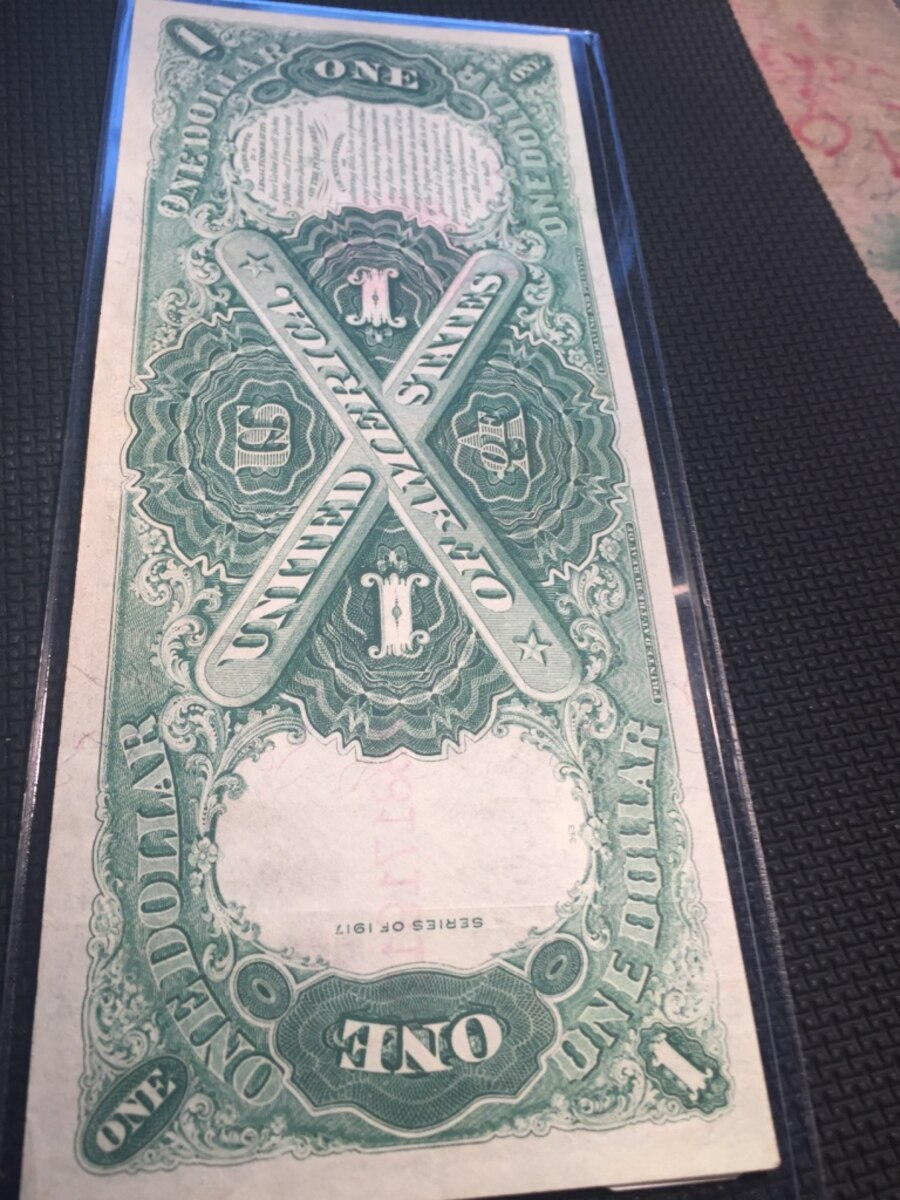 1917 $1  large size legal tender note.  - $285