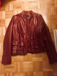 Faux leather, ruffled jacket size medium  Ottawa, K1J 7V7