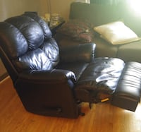 Black leather recliner null