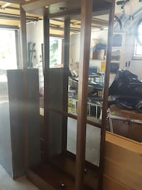 Open Lighted Mirror Curio Cabinet from Leon's Edmonton, T5M 2T6