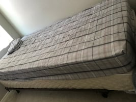 Twin Bed Mattress, frame, and box spring