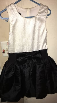 black and white Dress size 8 Meridian, 39305