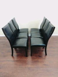 Wood/leather dining room chair set Colorado Springs, 80906