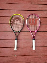 two white and pink tennis rackets Myrtle Beach, 29572