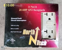 3-20 amp GFI plugs