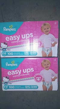 2 Brand new Girls Pampers Easy ups size 3t-4t 100 count Mississauga