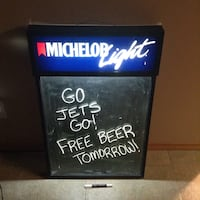 Michelob light advertising board - lights up Winnipeg, R3R 2N4