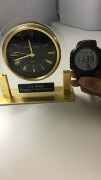 air cargo shippers conference brass round analog desk clock 31 km
