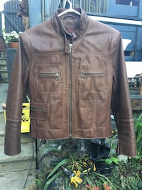 BROWN DANIER LEATHER JACKET SIZE XS $50 Coquitlam, V3K 1P4