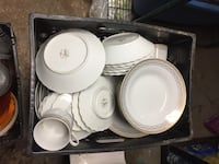 White ceramic dinnerware set in box West Long Branch, 07764