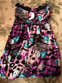 black, pink, and green floral sleeveless dress Harpers Ferry, 25425