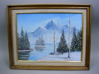 Framed Landscape Oil on Canvas - Signed Lancaster