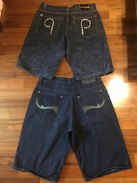 Rocawear n Parish Long Jean Shorts~~Size 16