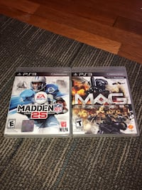 2 PlayStation 3 games  Chambersburg, 17202