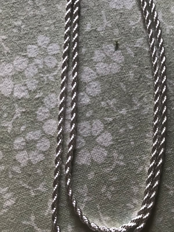 "SOLID UNISEX STERLING SILVER ROPE CHAIN 24"" 32339937-b511-40a0-be2e-837928529a9b"