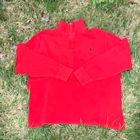 Vintage Retro 90's Polo Ralph Lauren Red Zip Up Sweater Size Large  Laurel, 20708