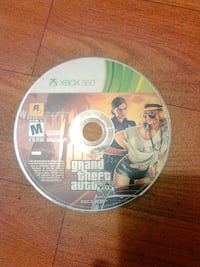 Grand Theft Auto Five Xbox 360 game disc