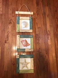 Wooden and metal beach decor