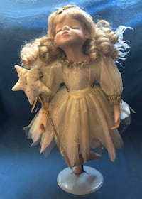 Vintage Angel Porcelain Doll by Collections ETC Co