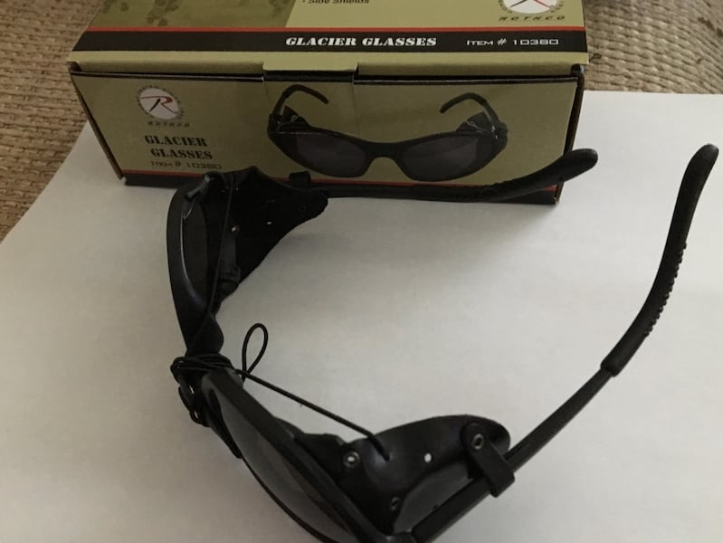 Reduced for a quick sale: Tactical style black sunglasses w/wind guard 92a5df3f-0f9b-4630-b243-e998a42c578b