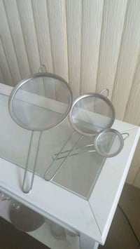 two clear glass candle holders Calgary, T2V 2X4