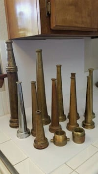 Vintage Fire Fighter Nozzle Collection. Palmdale